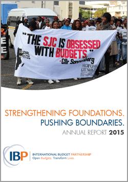 International Budget Partnership 2015 Annual Report