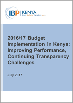 2017/17 Kenya Budget Implementation Analysis