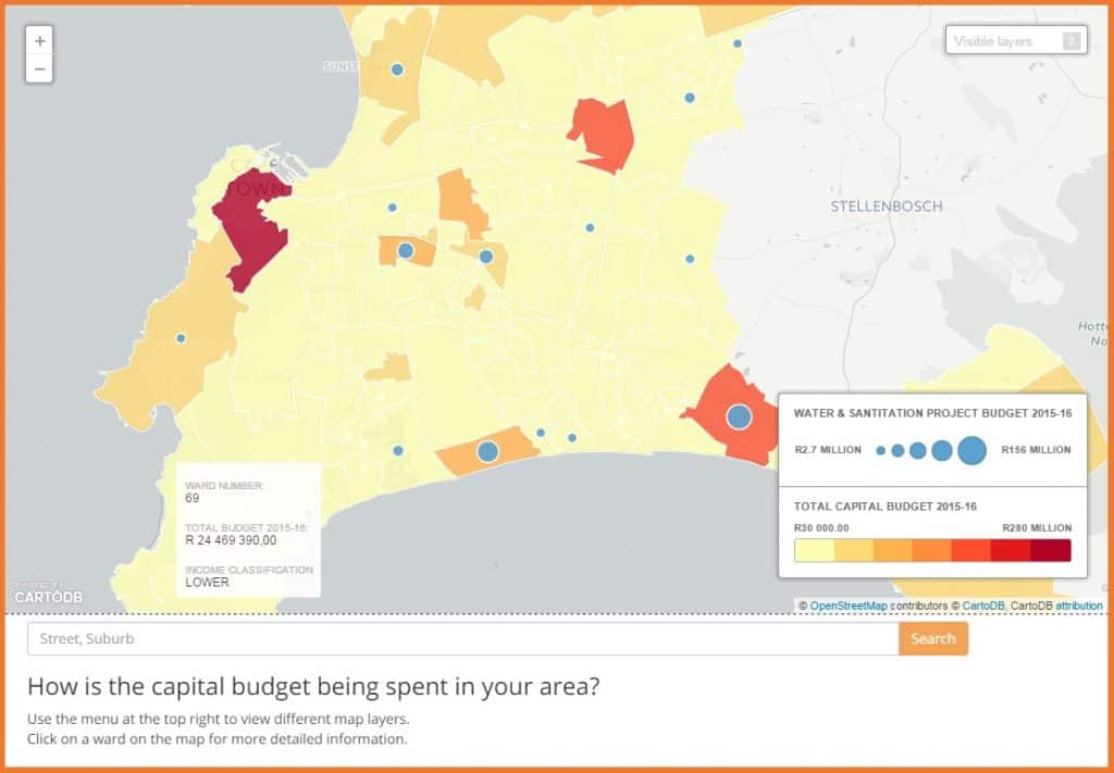 Cape Town Budget Project Map