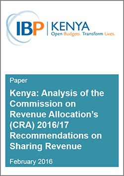 Kenya Revenue Sharing CRA Analysis