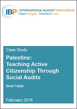 IBP Case Study Palestine Social Audits