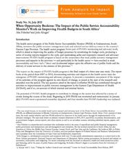 Guía para el análisis presupuestario en salud sexual y reproductiva (Guide for budget analysis in sexual and reproductive health)