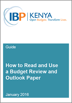 Kenya - how to read and use budget documents