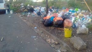 Trash in a South African informal settlement