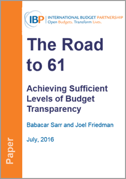 The Road to 61: Achieving Sufficient Levels of Budget Transparency