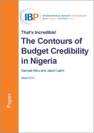 The Contours of Budget Credibility in Nigeria