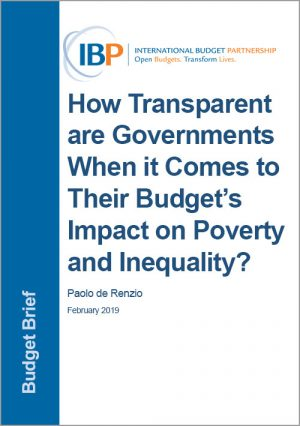 Cover: How Transparent are Governments When it Comes to Their Budget's Impact on Poverty and Inequality?