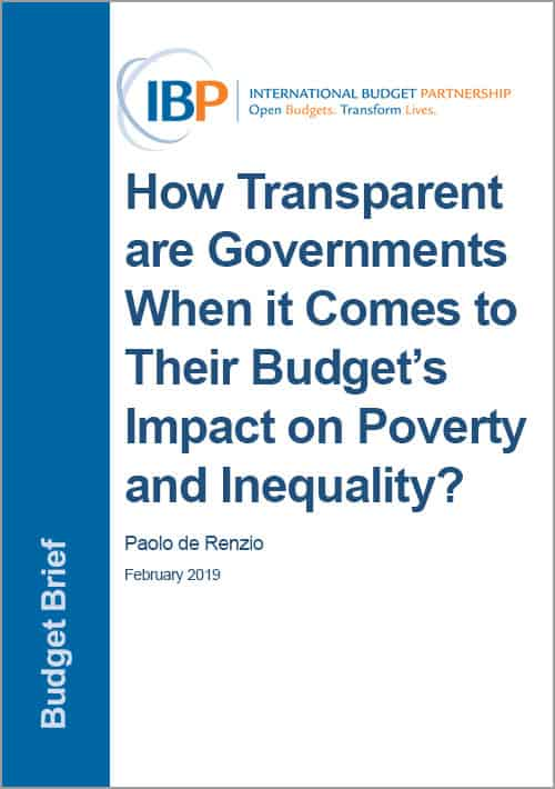 How Transparent are Governments When it Comes to Their Budget's Impact on Poverty and Inequality?