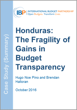 Honduras: The Fragility of Gains in Budget Transparency