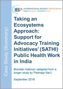 case study public health india