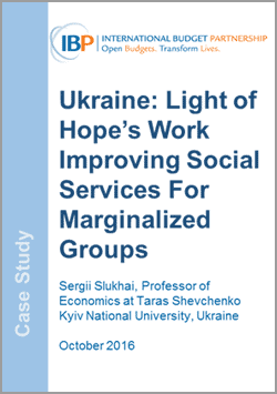 International Budget Partnership Case Study Ukraine Social Services