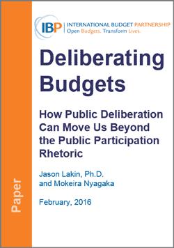 public budget participation in Kenya vs. Deliberation