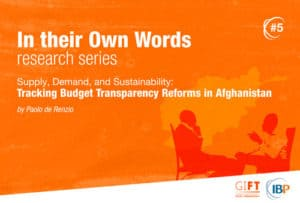 tracking fiscal transparency reforms in afghanistan