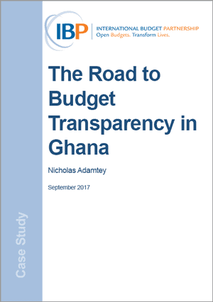 The Road to Budget Transparency in Ghana