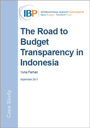 The Road to Budget Transparency in Indonesia