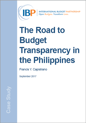 The Road to Budget Transparency in the Philippines