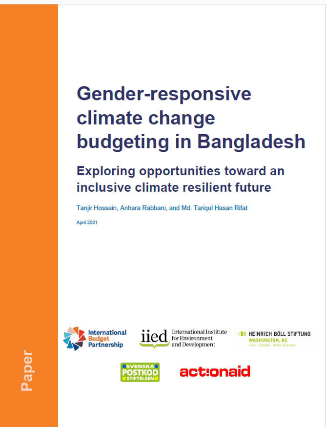 Gender-responsive climate change budgeting in Bangladesh: Exploring opportunities toward an inclusive climate resilient future