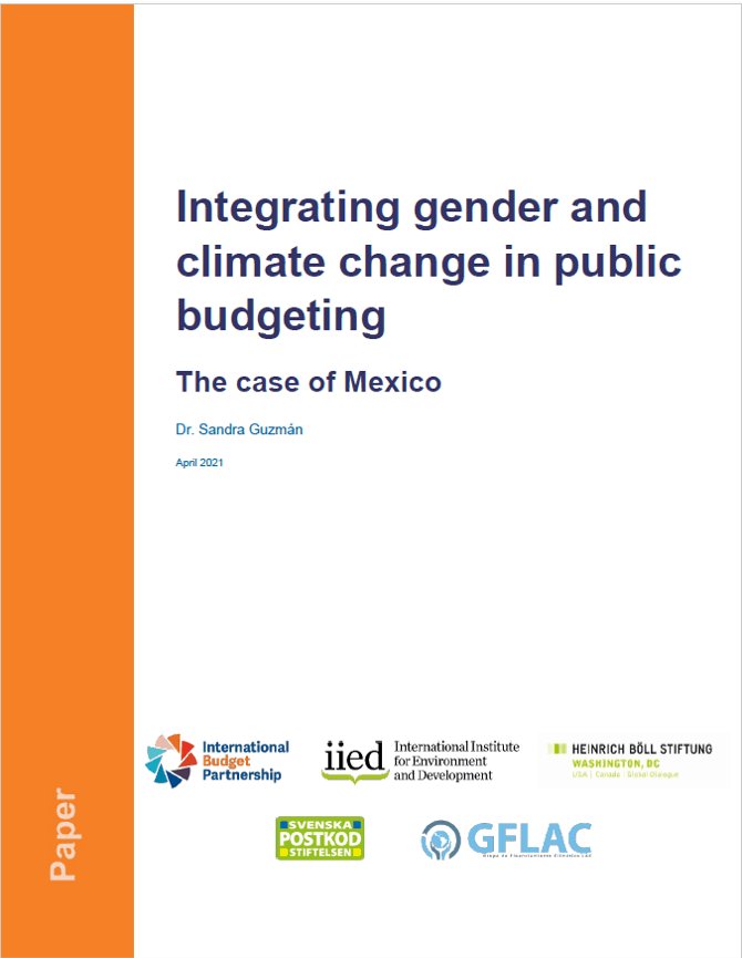 Integrating gender and climate change in public budgeting: The case of Mexico