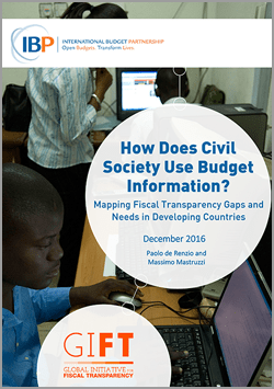 How Civil Society Uses Budget Information
