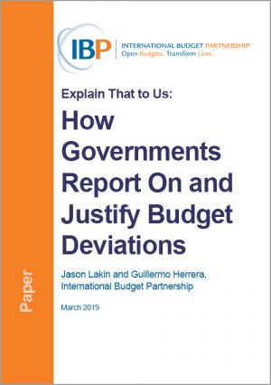 Research: How Governments Report On and Justify Budget Deviations