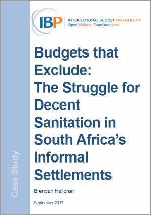 budgets that exclude sanitation south africa