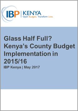 kenya county budget implementation 2015/2016