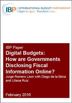 International Budget Partnership Digital Budget Paper