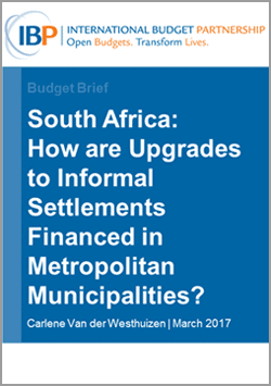 upgrades to informal settlements in south africa