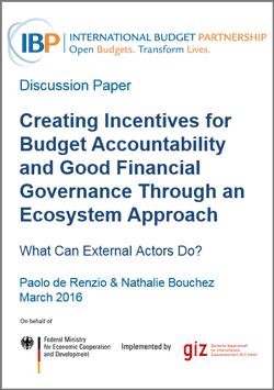 budget accountability ecosystems