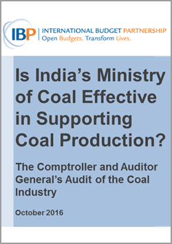 India Audit of Coal Industry
