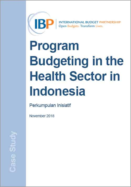 Program Budgeting in the Health Sector in Indonesia