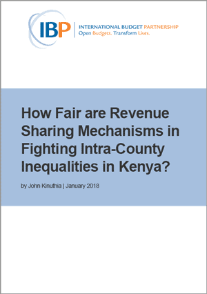 How Fair are Revenue Sharing Mechanisms in Fighting Intra-County Inequalities in Kenya?