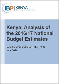 Kenya Budget Analysis