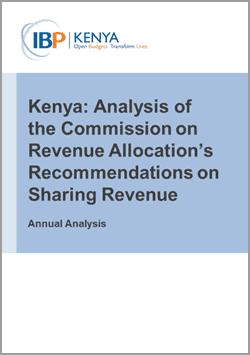 kenya commission on revenue allocation analysis