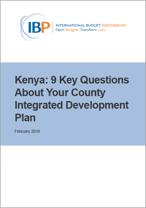 Kenya: 9 Key Questions About Your County Integrated Development Plan