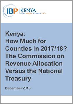 Kenya CRA National Treasury Division of Revenue Analysis