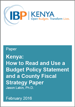 how to read and use kenya budget policy statement