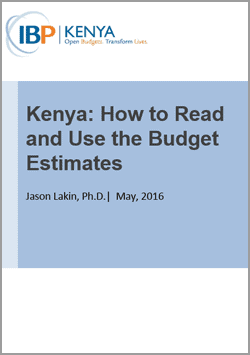 IBP Kenya Guide: How to Read and Use Budget Estimates