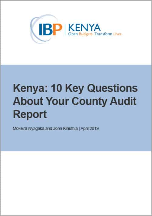 Kenya: 10 Key Questions About Your County Audit Report