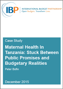 Maternal Health In Tanzania: Stuck Between Public Promises and Budgetary Realities