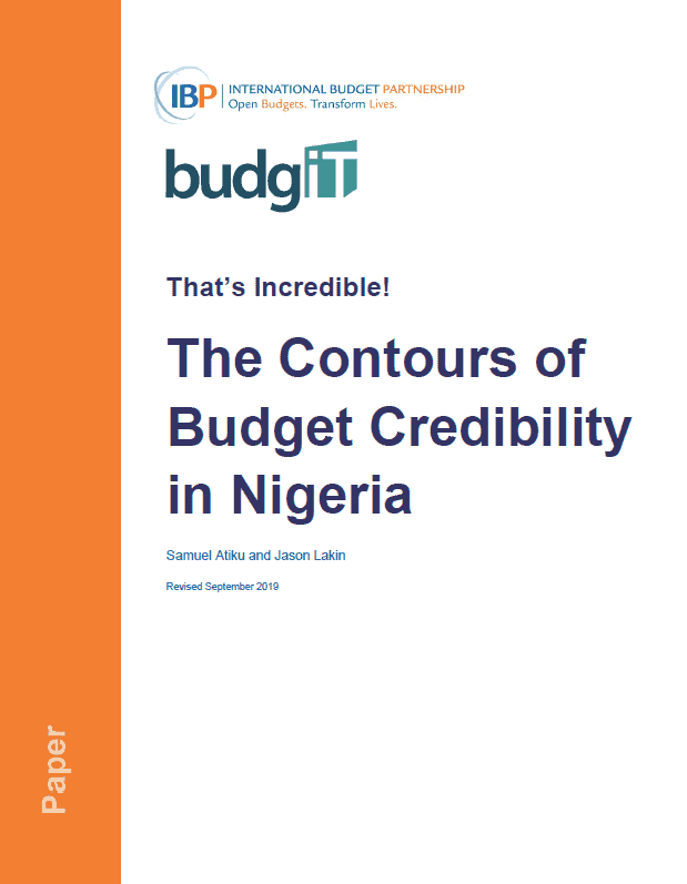 That's Incredible! The Contours of Budget Credibility in Nigeria