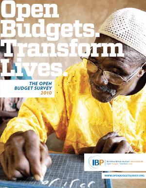 2010 Open Budget Survey Report