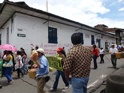 Protests in Colombia. Credit: Flickr / inyucho