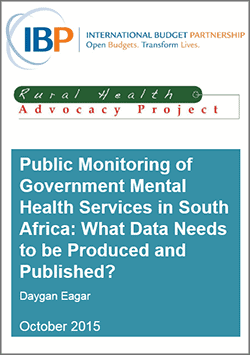 Public Monitoring of Government Mental Health Services in South Africa