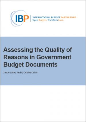 Reasons in Government Budget Documents