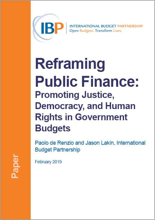Reframing Public Finance cover image
