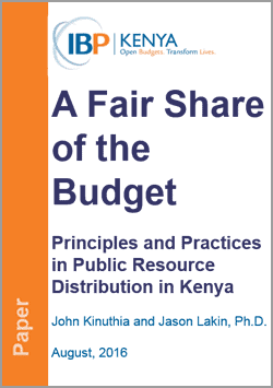 A Fair Share of the Budget: Principles and Practices in Public Resource Distribution in Kenya