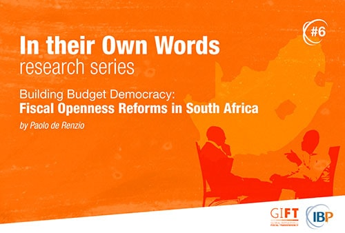 Building Budget Democracy: Fiscal Openness Reforms in South Africa