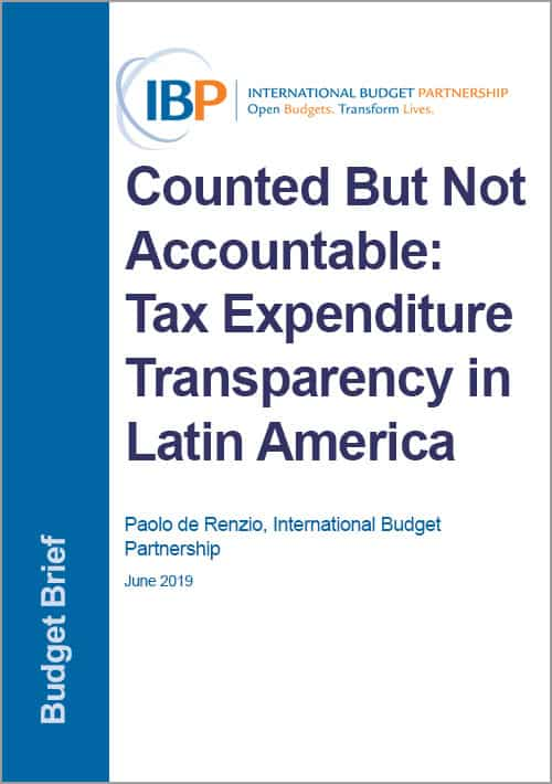 Counted But Not Accountable: Tax Expenditure Transparency in Latin America